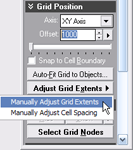 Manually adjust grid extents.