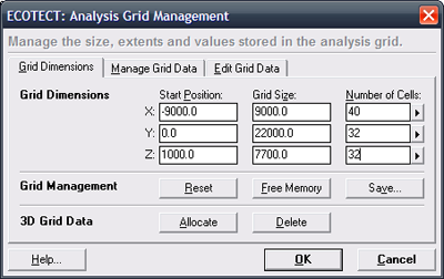 The Grid Management dialog box.