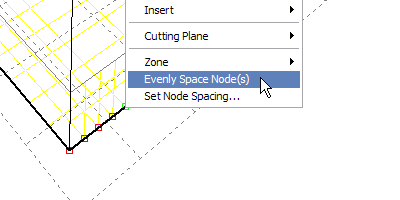 Resetting the cell spacing node.