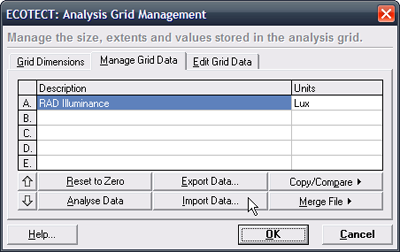 Click the Import Data button under the Manage Grid Data tab.