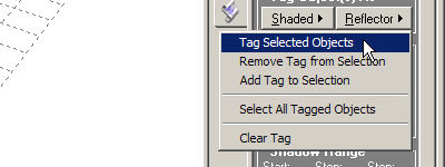 Select the Tag selected objects menu item.