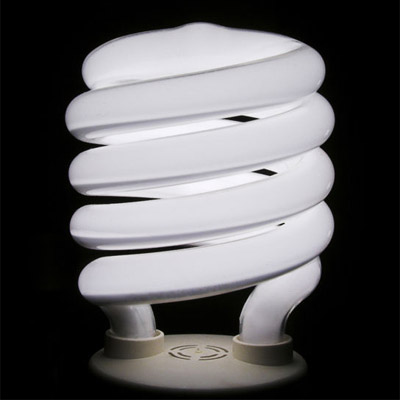 Figure 5 - An example of a compact fluorescent light.